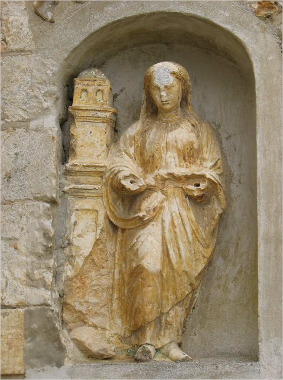 Statue de Sainte-Barbe