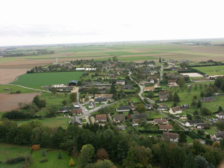 Vue aérienne de Villez